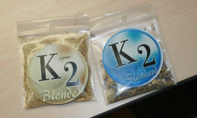 Two packages of synthetic CBD called K2 are under temporary ban in New Jersey.