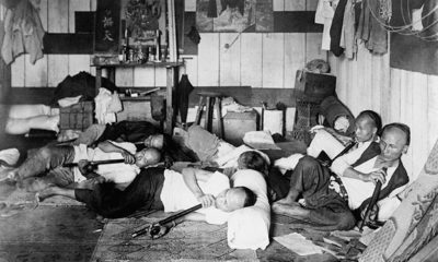 Chinese immigrants tended to patronize opium dens where they could smoke narcotics through water pipes