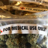 "A bag of dried buds labeled ""For Medical Use Only"" provided by Obamacare"