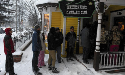 Patients in line at the Breckenridge Cannabis Club in Colorado, a line many other states hope to have soon.