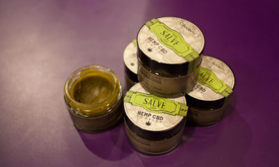 Containers full of CBD rich salve are great topicals for pains.