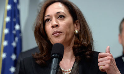 California Attorney General Kamala Harris speaks to her fellow employees about trusting their voters to make a decision on legal marijuana.