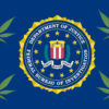 FBI Flag with Pot Leaves