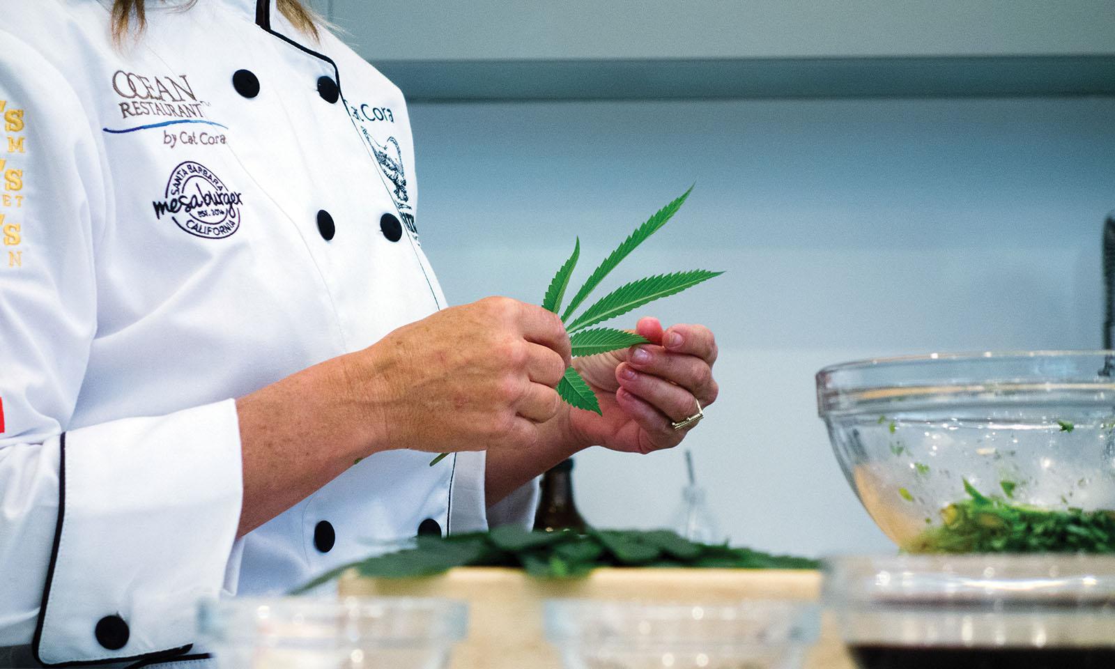 Cat Cora marijuana leaf Cannabis Now