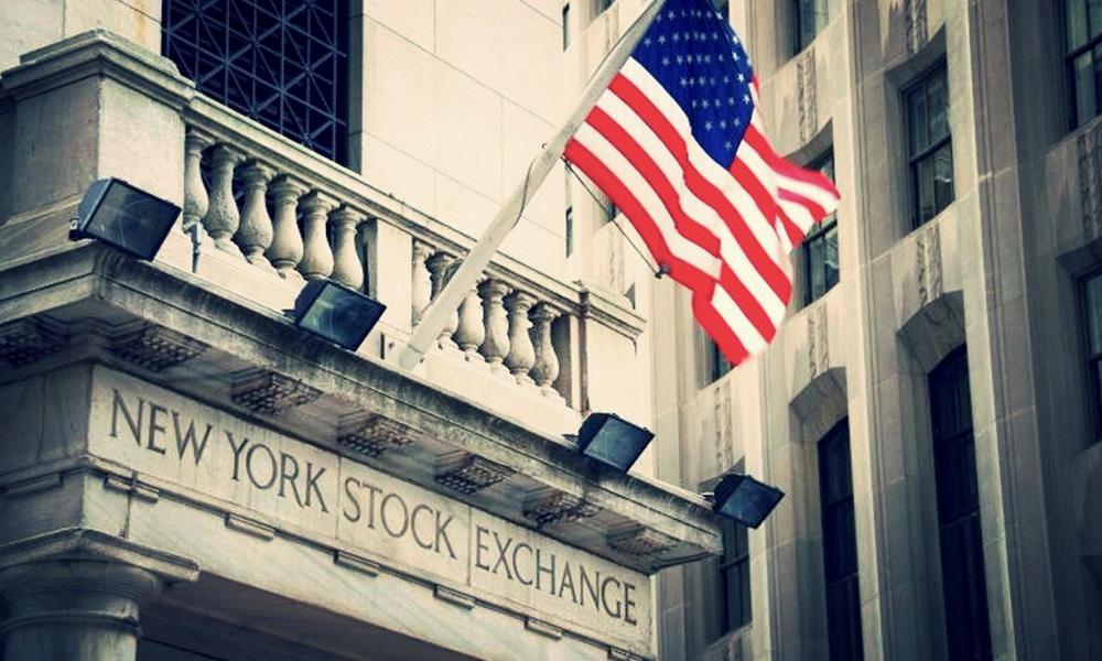 New York Stock Exchange Exterior Flag