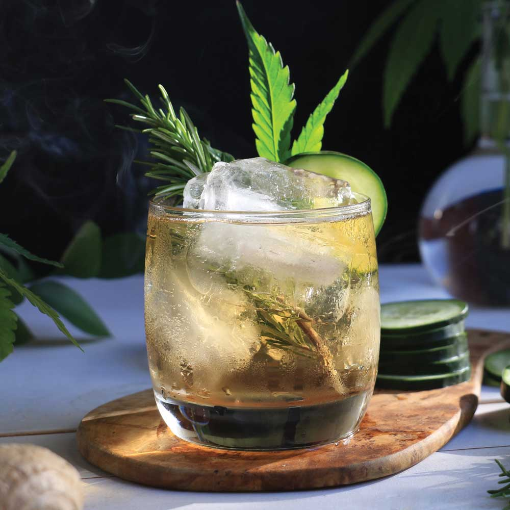 Cannabis-Infused Rosemary Cucumber Ginger Beer