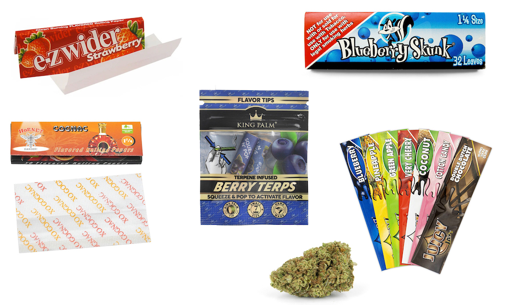 Flavored Wraps and Rolling Papers